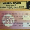 warren zevon - front row 10/10/87 - roland the headless thompson gunner