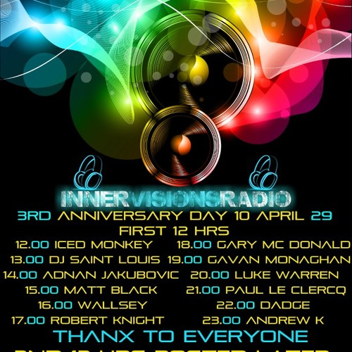 Innervisions Radio 3rd Anniversary Mix - Gary McDonald April 2013