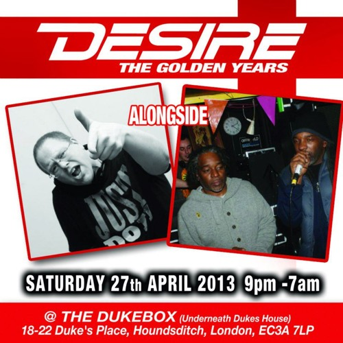 Billy Daniel Bunter & The Ragga Twins Live at Desire April 27th 2013