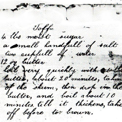Doreen White on the toffee recipe