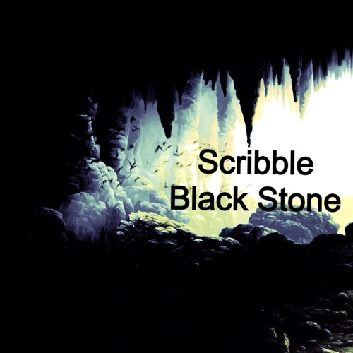 Scribble - black stone (cut 320)