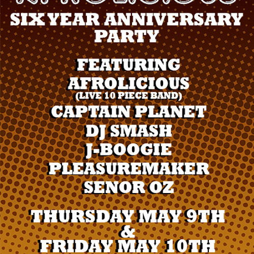 Afrolicious Six Year Anniversary Mixed by Señor Oz