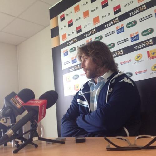 Szarzewski sur le statut d'outsider du Racing face à Toulouse.