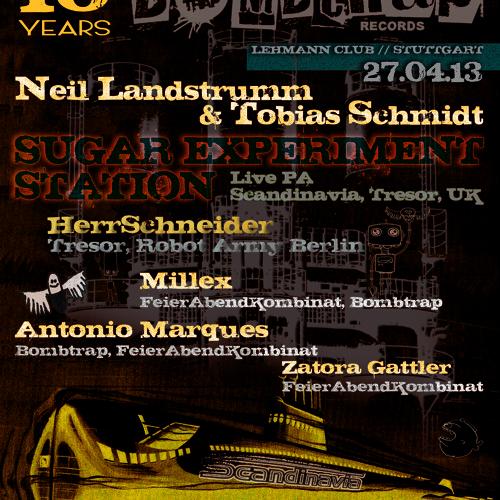 SUGAR EXPERIMENT STATION*LiVE PA  10 Jahre Bombtrap @ FeierAbendKombinat_LehmannClub  27.04.13