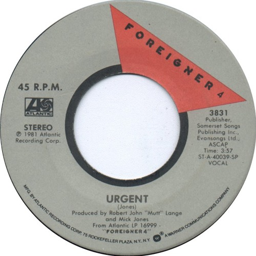 Foreigner - Urgent (Strutt's not in any rush mix) FREE DOWNLOAD