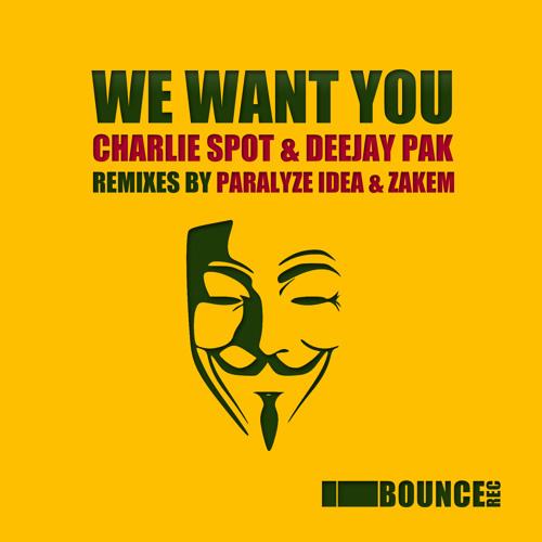 Charlie Spot, Deejay Pak - We Want You (Zakem Remix)