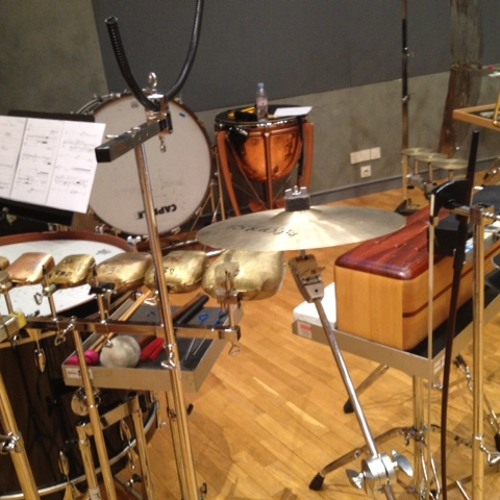 """Clara Iannotta """"3 sur 5"""" II mvt, for accordion and 2 percussionists (2012-2013)"""