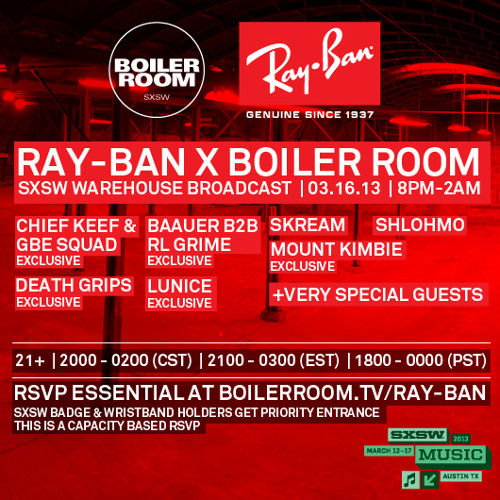 Skream Live at Ray-Ban x Boiler Room SXSW Broadcast