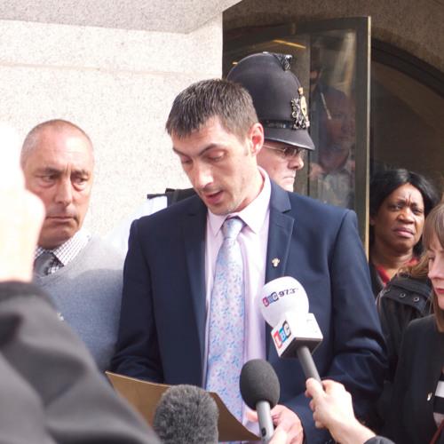Tia Sharp's father reaction to Stuart Hazell guilty plea.