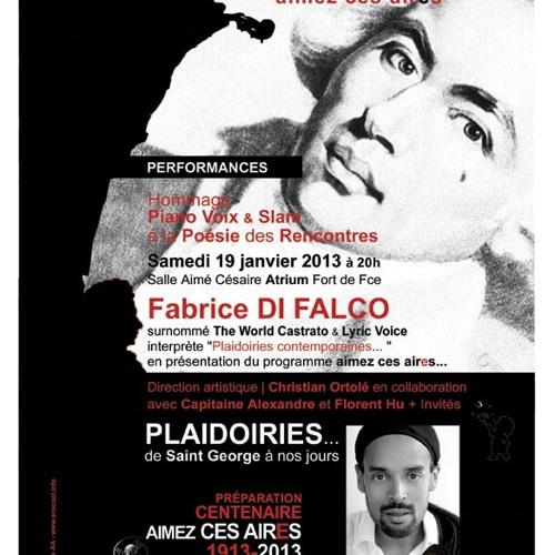 Annee Cesaire - AIMEZ CES AIRS... de Fabrice DI FALCO à l'Atrium le 19 janvier 2013