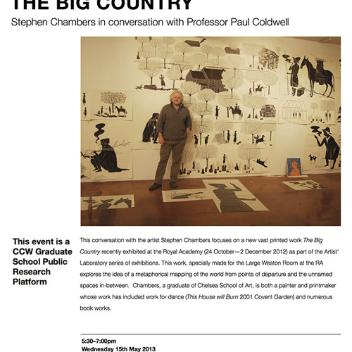 THE BIG COUNTRY: Stephen Chambers in conversation with Professor Paul Coldwell