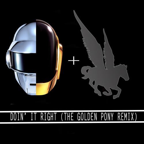 Daft Punk ft.Panda Bear-Doin' It Right (The Golden Pony Remix)