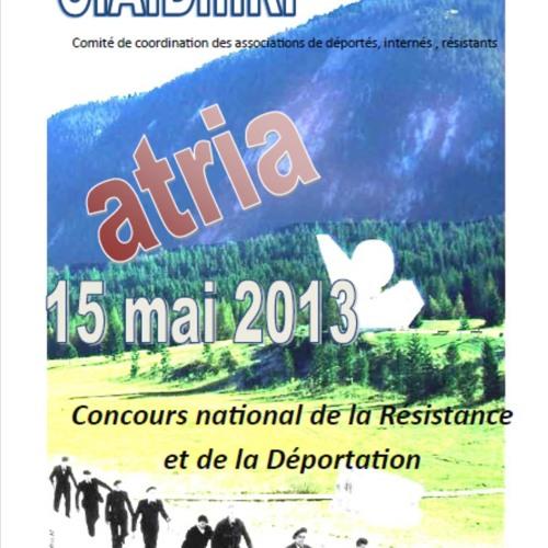Reportage radio Concours national de la Résistance et de la Déportation
