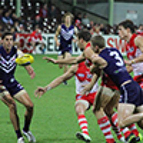 Fremantle Dockers midfielder / forward Matt de Boer post-game v Sydney Swans 2013