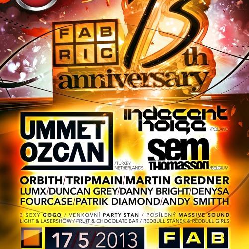 Indecent Noise LIVE @ Fabric, Ostrava, Czech Republic (17.05.13)