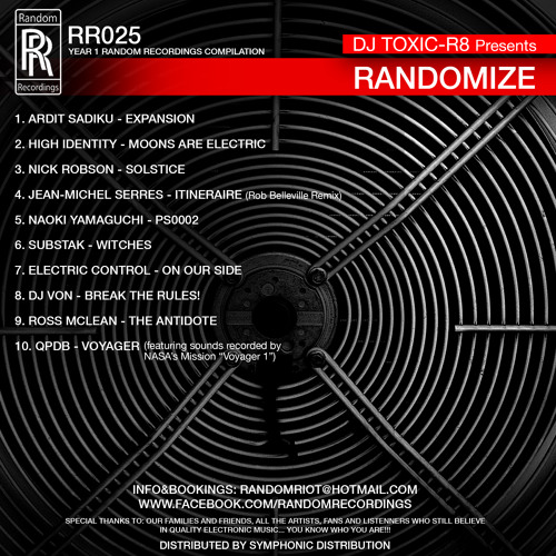 Preview RR025 - V.A. - Randomize - 1Year Random Recordings