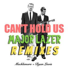 MACKLEMORE & RYAN LEWIS vs MAJOR LAZER - can't hold us remix (ft swappi and 1st klase)