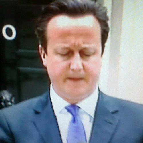 David Cameron in Downing Street May 23 2013