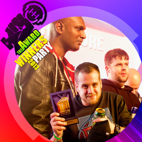 Fracus & Darwin with MC Obie at Hardcore Award Winners Party 2012
