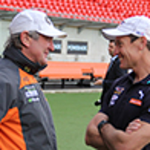 West Coast Eagles coach John Worsfold & GWS Giants coach Kevin Sheedy AFL Round 9 2013