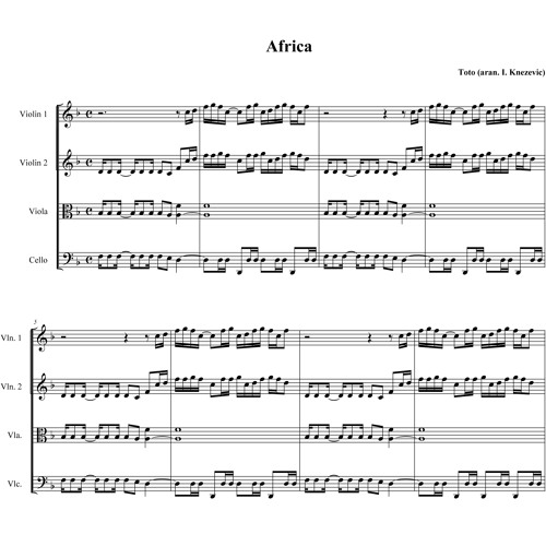 Africa Toto Sheet Music Solidique27