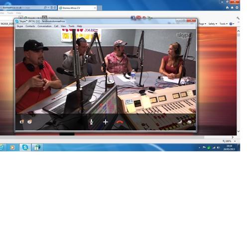 Donna Africa on Celeb Onset with Las Vegas Radio Klav Radio 24  May 2013