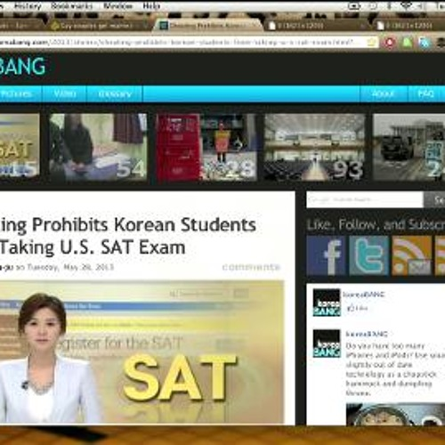 Gay weddings on Google hangout, SAT cancelled in South Korea
