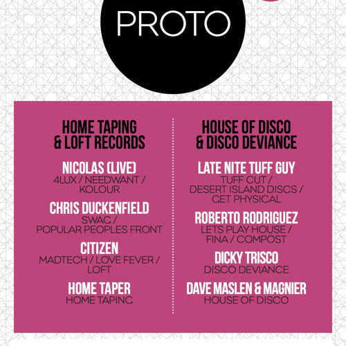 Home Taping Proto Promo Mix By Chris Duckenfield