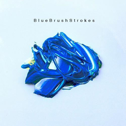 BlueBrushStrokes