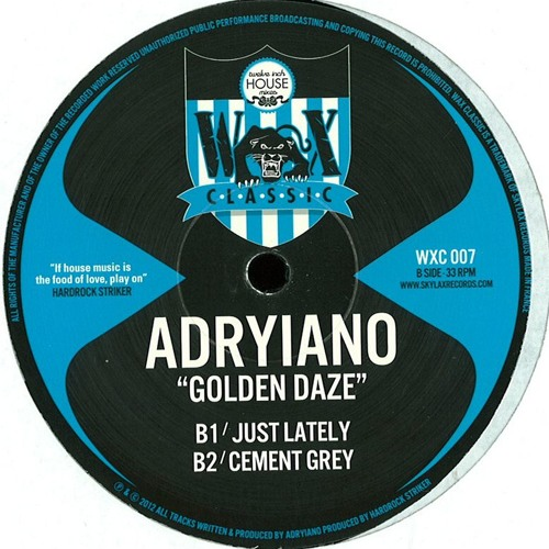 Adryiano - Golden Daze // WXC007