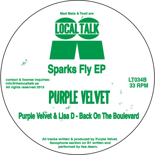 B1. Purple Velvet & Lisa D - Back On The Boulevard [Local Talk]