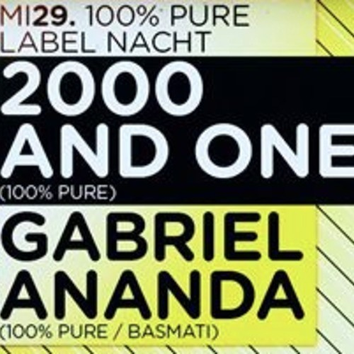 Gabriel Ananda @ 100% Pure - Gewoelbe Cologne May 2013