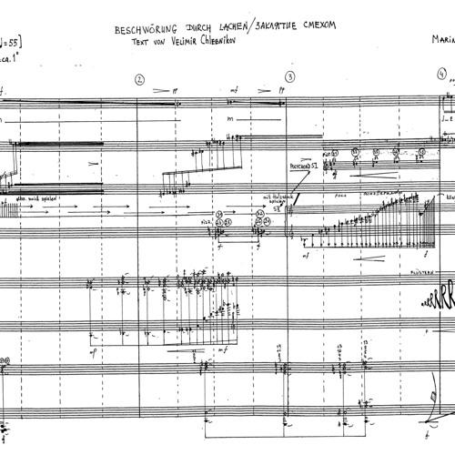 Beschwörung durch Lachen [2011] for soprano, polichord, cembalo universale, prepared piano