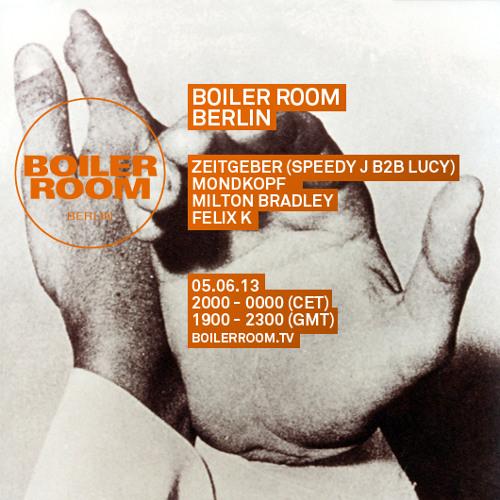 Zeitgeber (Speedy J B2B Lucy) 90 Min Boiler Room Berlin Mix