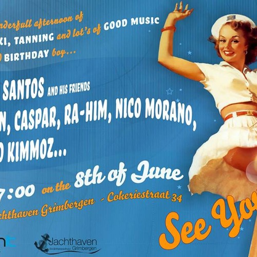 NICO MORANO at Don Santos B-Day Fiesta OPEN AIR @ Jachthaven Grimbergen 08 - 06 - 2013