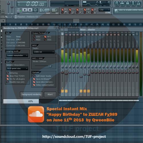 ❤ QweenBiie - So Happy (ZШΣΛИ Fχ989 Birthday 2013) - Special Instant Mix ❤  FREEDOWNLOAD!