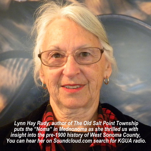 "Lynn Hay Rudy, author of ""The Old Salt Point Township"""