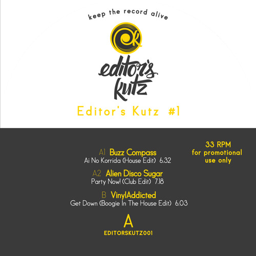 VA-Editor's Kutz Vol 1 (SNIPPET) (Out Now!!!) (12'' Limited Colored Vinyl)