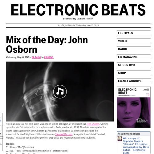 John Osborn - Electronic Beats Podcast