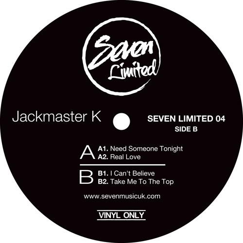 Jackmaster K - EP on Seven LTD ( Vinyl only) (Low res previews)  (drops  24th June)