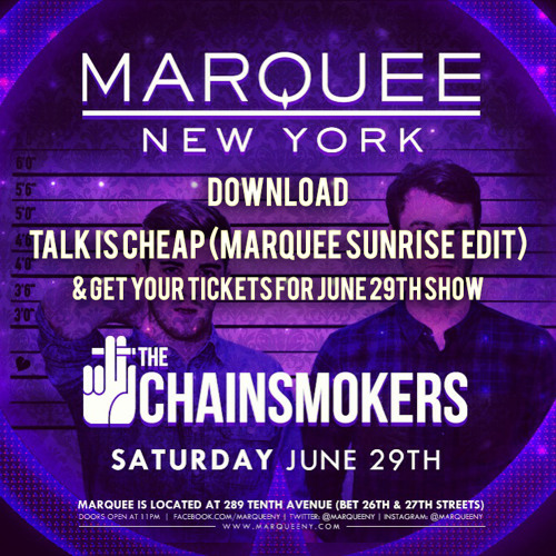 Talk Is Cheap (Marquee Sunrise Edit)