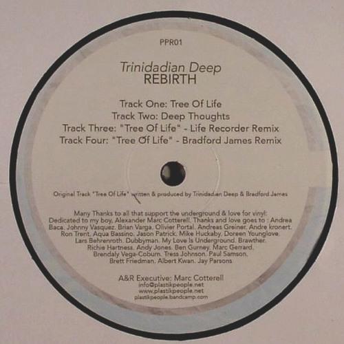 "Trinidadian Deep - ""Tree of Life"" (Life Recorder remix) /// Plastik People Rec /// Vinyl (PP 01)"