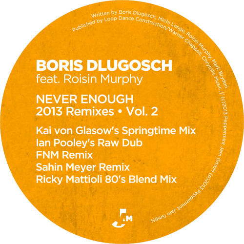 Boris Dlugosch feat. Roisin Murphy -Never Enough (Ian Pooley's Raw Dub)