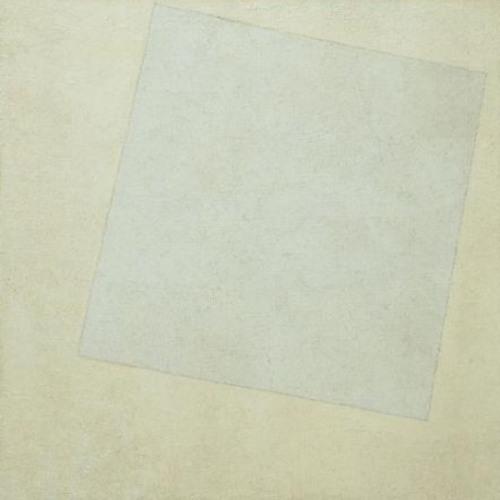 Malevic - Composizione suprematista bianco su bianco
