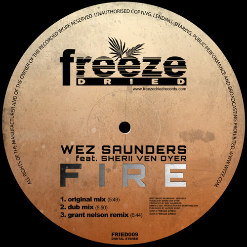 Wez Saunders feat. Sherii Ven Dyer - Fire (Grant Nelson Remix) [Freeze Dried] - RELEASED TODAY!