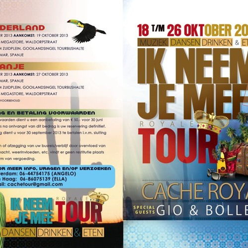 """Spot: Royale Tour - Ik neem je mee """"Lloret de mar"""" okt 2013"""