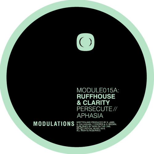 RUFFHOUSE & Clarity - Persecute - Critical:Modulations [MODULE015]