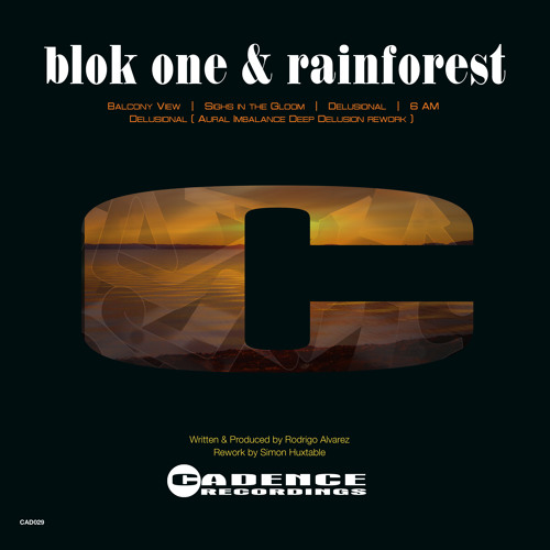 Blok one & Rainforest /  Delusional / OUT NOW  / CAD029