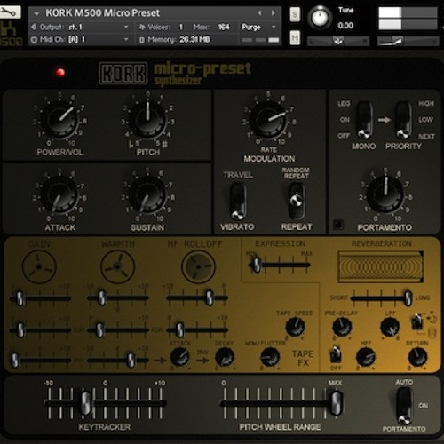 Kork M500 Micro Preset from Tronsonic - Examples of tape compression