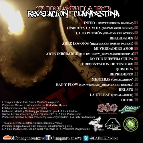"10.- Quisiera (Cunaguaro Anz Evc) ""Revelación Clandestina 2013"""